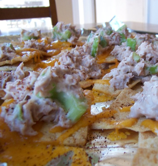 tuna melt nachos
