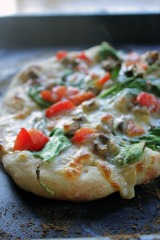 White Vegetable Pizza