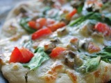 White Vegetable Pizza