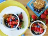 Yogurt Berry Tarts with Graham CrackerCrust